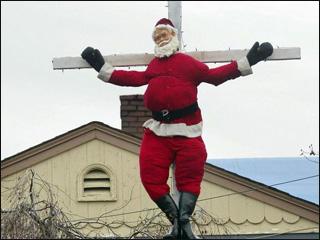 crucified-santa