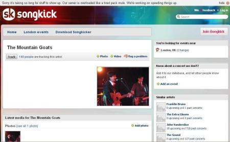 songkick screenshot